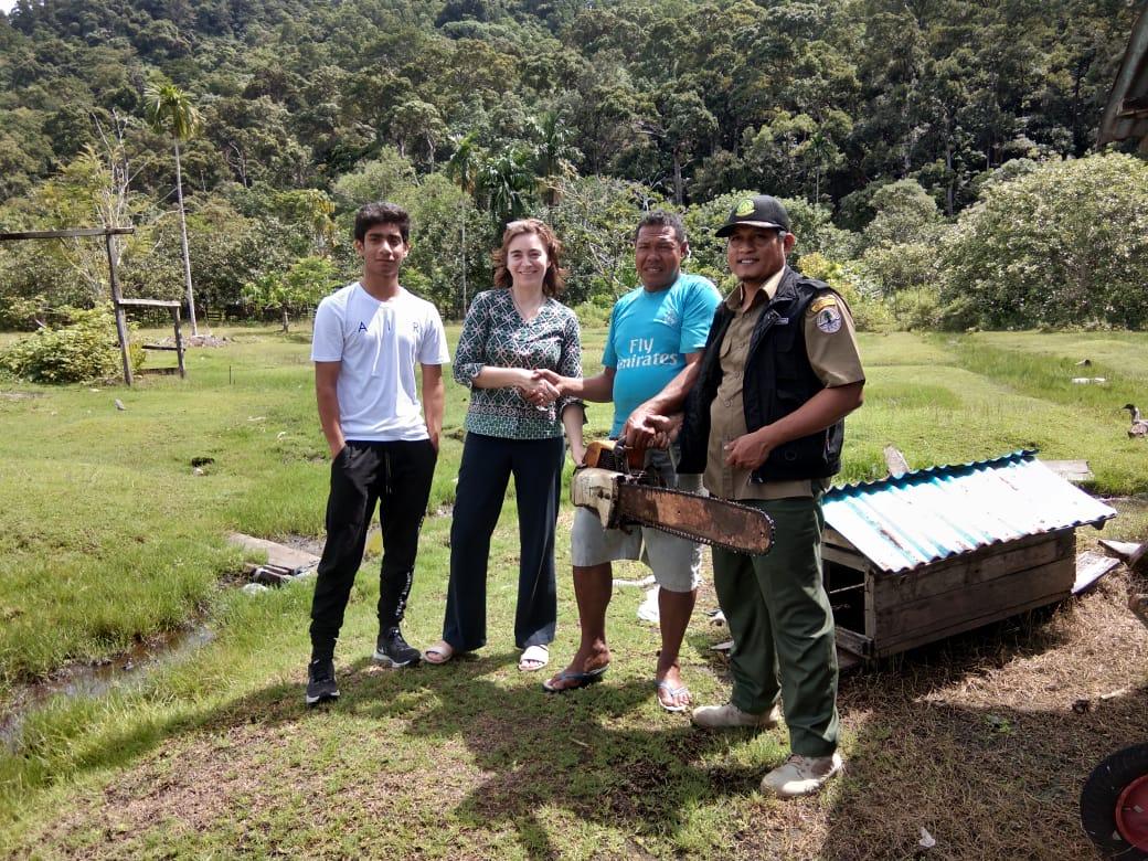 Dua Tahun Berjalan, BTNGP dan ASRI Telah Menerima 97 Chainsaw dari Masyarakat